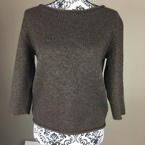 Eileen Fisher wool sweater brown XS